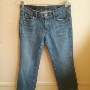 CITIZENS OF HUMANITY CROPPED JEANS.  SIZE 28.